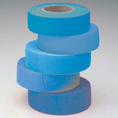 Plastic Flagging Tape , Blue Orange PVC Electrical Tape For Warning Tape from China