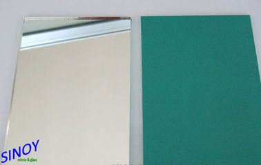 Eco Friendly Silver Coated Copper Free Mirror / Bathroom mirrors